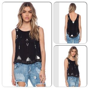 Free People Black Bad Girls Do It Well Tank